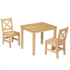 EHemco Kids Table And 2 X-Back Chairs Set Solid Hard Wood (Natural) Kids Study Table Chairs Details About Kids Table Chair Set Multi Color Toddler Activity Plastic Boys Girls Square Play Goplus 5 Piece Pine Wood Children Room Fniture Natural New Hw55008na Schon Childrens And Enchanting The Whisper Nick Jr Dora The Explorer Storage And Advantages Of Purchasing Wooden Tables Chairs For Buy Latest Sets At Best Price Online In Asunflower With Adjustable Legs As Ding Simple Her Tool Belt Solid Study Desk Chalkboard Game