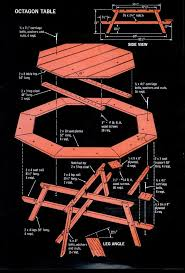 Building Plans For Hexagon Picnic Table by Wonderful Hexagon Picnic Table Kit And Pdf Plans Building Plans