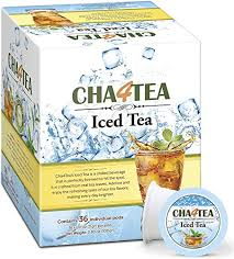 Cha4Tea 36 Count Black Iced Tea K Cups For Keurig Cup Unsweetened