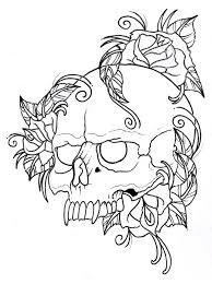 Deer Skull Frame Tattoo Design