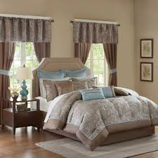 Brown And Blue Bedding by Contemporary Madison Park Comforter Sets King Brown And Blue