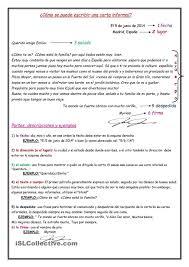 Una Carta Informal Vocabulario Pinterest Ap Español Español