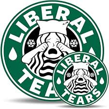 Unicorn Poop Liberal Tears Bumper Sticker Magnet Set Funny Starbucks Parody MAGA Donald Trump President