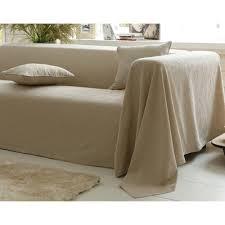 jetée canapé plaids et jetés de canapé beige 3suisses