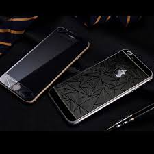 Front Back 3d Diamond Tempered Glass Screen Protector for iPhone 6