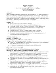 Qa Resume Summary Examples With Quality Assurance Software