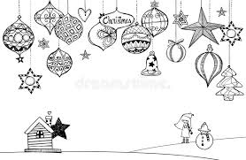Download Hand Drawn Christmas Decoration Stock Vector