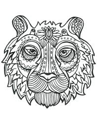 Coloriage De Animaux Tete De Tigre à Imprimer Africa Coloriage