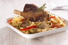 cuisiner une souris d agneau recette de souris d agneau confite aux olives pâtes aux