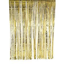 sunbeauty 1 set of metallic tinsel foil fringe curtains for party