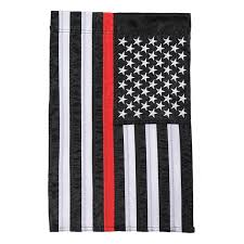 Thin Red Line American Garden Flag