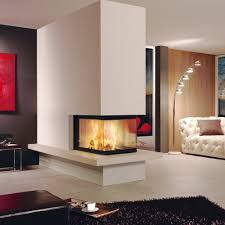 Dining Room Three Way Fireplace Ideas See Through Electric Insert Modern Jgre Contemporary Best Rated Small