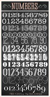 Awesome Number Free Fonts The36thavenue Enjoy Numbers