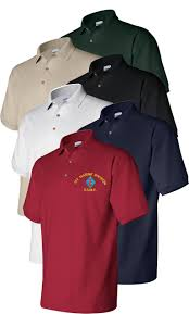 embroidered usmc polo golf shirts