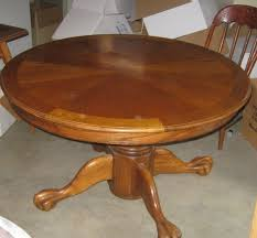 Round Dining Room Sets With Leaf by 48 Inch Round Oak Dining Table With Drop Leaf Home Interiors