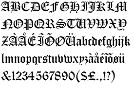 Old English Letters Stickers Decals