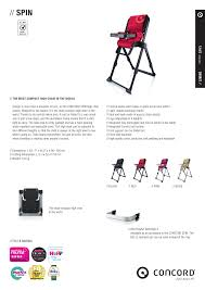 Concord SPIN PRODUCT INFORMATION User Manual | 1 Page Kraft Spin Fix Baby Car Seat 036 Kg Les Petits Affordable Fniture Midrange Stores That Wont Break The Bank Joie Mimzy 360 Highchair Spin 3in1 Algateckidscom Ncord Wander With Sleeper 20 Pokoj Dziecy Concord Highchair Honey Beige Amazoncouk High Chair Chocolate Brown Sp0966 Car Seats 1536 Tables Poliform Concorde Cover For High Chair Ikea Ice Cream Fundas Bcn Spin Powder Buy At Kidsroom Living In Carlton Nottinghamshire Gumtree Proform 400 Spx Bike Nebraska Fniture Mart