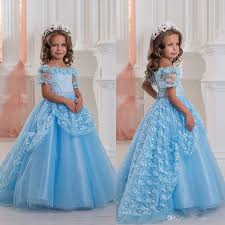 2017 new blue off shoulders cute baby u0027s pageant dresses short