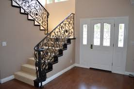 Decor & Tips: Front Entry Door With Sidelights And Interior Paint ... Wrought Iron Stair Railings Interior Lomonacos Iron Concepts Wrought Porch Railing Ideas Popular Balcony Railings Modern Best 25 Railing Ideas On Pinterest Staircase Elegant Banisters 52 In Interior For House With Replace Banister Spindles Stair Rustic Doors Double Custom Door Demejico Fencing Residential Stainless Steel Cable In Baltimore Md Urbana Def What Is A On Staircase Rod Rod Porcelain Tile Google Search Home Incredible Handrail Design 1000 Images About