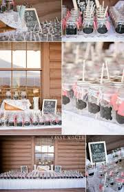 Mason Jar Favor Table Country Girl Collections Wickham Park Cabin Garden Wedding