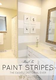 Best Paint Color For Bathroom Walls by Best 25 Striped Bathroom Walls Ideas On Pinterest Nautical