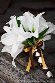 all white wedding flowers with casablanca lilies Google Search