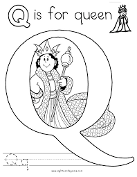 Letter Q Coloring Page 1