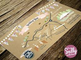 A Rustic Wedding Map To Go With Hannah And Barneys Invitations This Lovely Couple