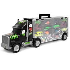 100 Dinosaur Truck BCP 16Piece 22in Kids Semi Carrier Toy Set W 3 Cars 6