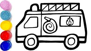 100 Best Toy Trucks Glitter Fire Truck Coloring Pages Learn Colors For Kids Jolly