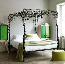 Home Bedroom Decor With Climbing Plants Canopy Bed