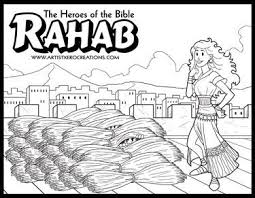 Rahab Coloring Pages The Heroes Of Bible