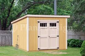 8 x 10 deluxe shed plans modern roof style d0810m material