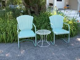 refurbishing garage sale metal lawn chairs appreciating up