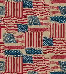 Holiday Inspirations Patriotic Fabric Burlap Rustic Flags