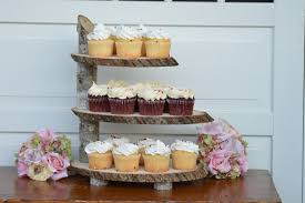 Fall Wedding Cupcake Stand Etsy Rustic Wood Slab Cake