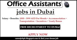 Urgent fice Assistant jobs in Dubai 2015 2000 to 3999 AED