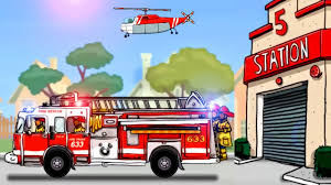 Fire Truck For Children - Fire Truck Cartoon | Cars & Trucks For ... Fire Engine Cartoon Pictures Shop Of Cliparts Truck Image Free Download Best Cute Giraffe Fireman Firefighter And Vector Nice Pics Fire Truck Cartoon Pictures Google Zoeken Blake Pinterest Clipart Firetruck Creating Printables Available Format Separated By With Sign Character Royalty Illustration Vectors And Sticky Mud The Car Patrol Police In City