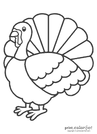 Thanksgiving Turkey Coloring Pages Print Color Fun Free Printables Download