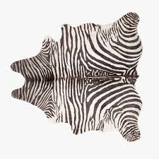 Image 1 Of The Product ZEBRAPRINT LEATHER RUG Beautiful Carpets