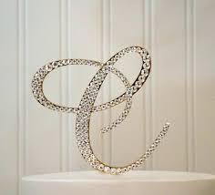 Letter R Cake Topper Monogram Wedding Crystal Initial Any A B C D E F G H I J K L M N O P Q S T U V