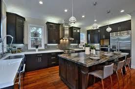 Kitchen With Dark Floors Modern White