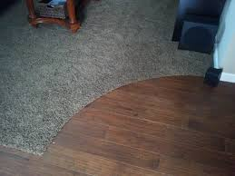 carpet transition to curved wood install tierransanta san diego