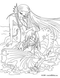 The Little Mermaid Tale Coloring Page Inside Fairy Princess Pages
