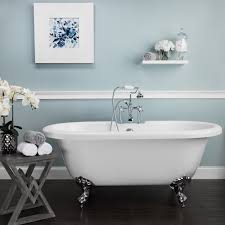 Amelia 71 Inch Acrylic Double Ended Pedestal Tub Package
