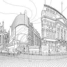 Coloring Pages City Scene Best Seller Adult Books Free Sample