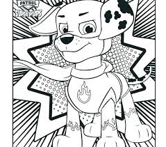 Marshall Paw Patrol Coloring Page Pages