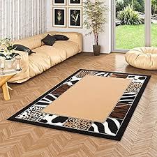 trendline teppich afrika bordüre beige in 4 größen