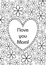 Adult Coloring Page Mothers Day Heart