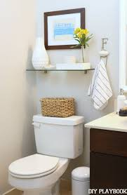 Over The Toilet Storage With Clear Glass Shelves